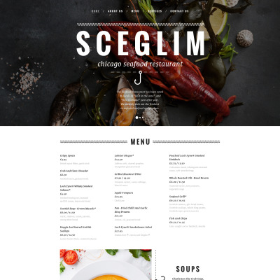 Responsive Website Vorlage für Fischrestaurant
