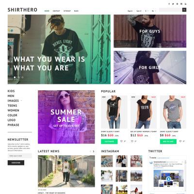 T-shirt Shop Responsive PrestaShop Tema
