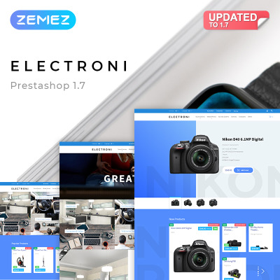 Electronics Store Responsive PrestaShop Tema