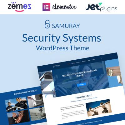 Thème WordPress adaptatif  pour site de sécurité