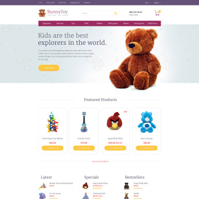 Toy Store Responsive OpenCart шаблон