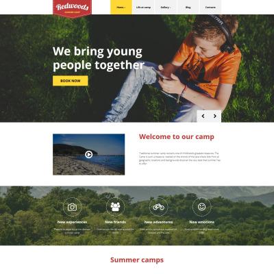 Thème WordPress adaptatif  pour site de camp d'été