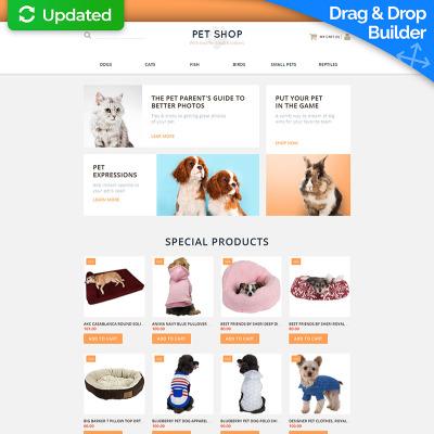 Pet Shop Responsive MotoCMS Ecommerce Template