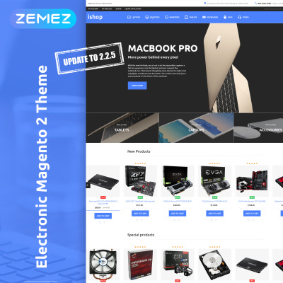 Electronics Store Responsive Magento Motiv