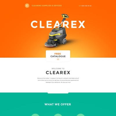 Cleaning Responsive Landing Page Template