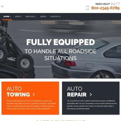 Thème WordPress adaptatif  pour site de remorquage auto