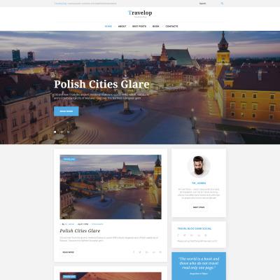 Thème WordPress adaptatif  pour sites de voyages