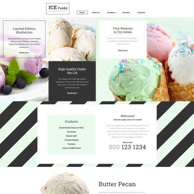 Ice Cream Responsive Шаблон сайту