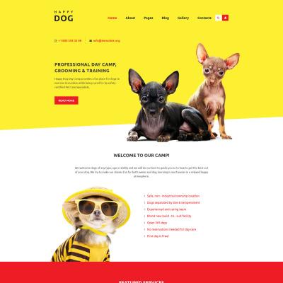 Flexível template Joomla №58559 para Sites de Cachorros