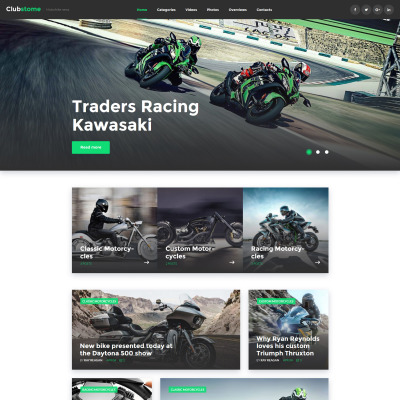 Responsives WordPress Theme für Motorsport