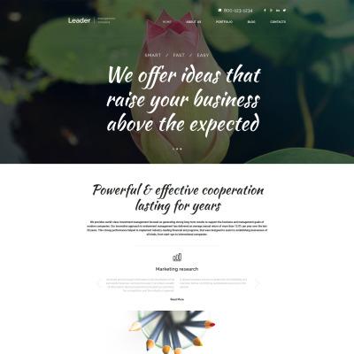 Thème WordPress adaptatif  pour société de gestion
