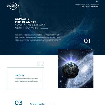 Astronomy Responsive Шаблон сайту