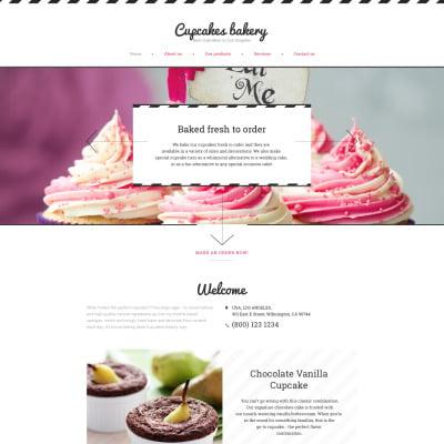Responsive Website Vorlage für Bäckerei