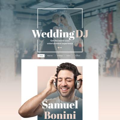 Flexível template Web №58643 para Sites de DJ