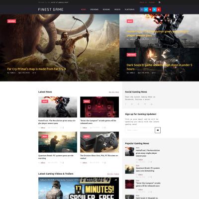 Responsives WordPress Theme für Spieleportal-