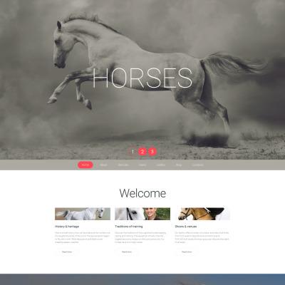 Responsives Moto CMS 3 Template für Pferd