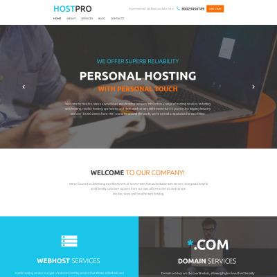 Responsive Website Vorlage für Hosting