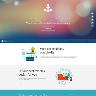 Responsive Joomla Vorlage für Web Design