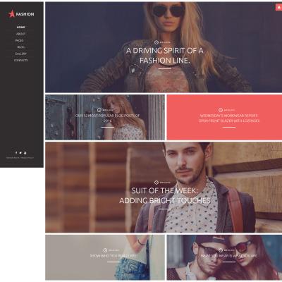 Flexível template Joomla №58830 para Sites de Moda