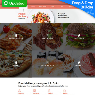 Catering Responsive Moto CMS 3 Template