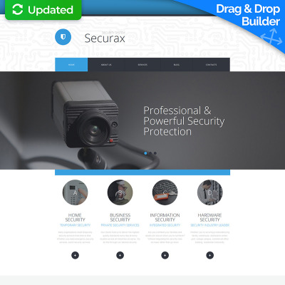 Security Responsive Moto CMS 3 Template