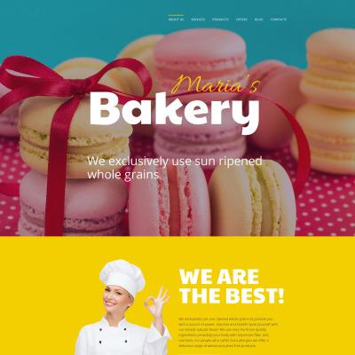 Responsives Moto CMS 3 Template für Bäckerei