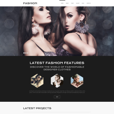 Flexível template Joomla №58866 para Sites de Moda