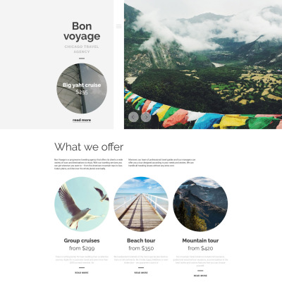 Travel Agency Responsive Tema WordPress