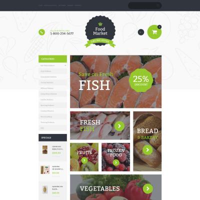 Food Store Responsive VirtueMart模板