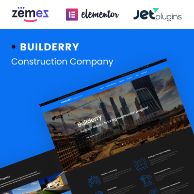 Construction Company Responsive WordPress Theme