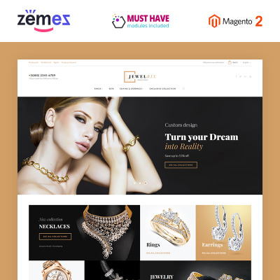 Jewelry Responsive Magento Motiv