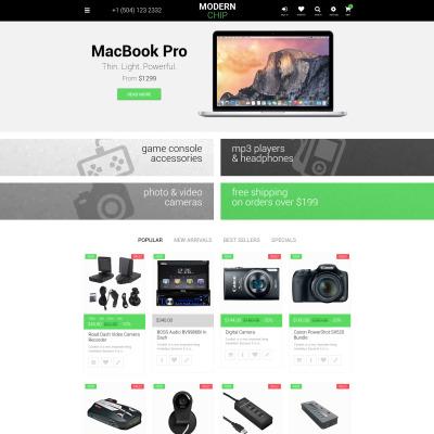 Responsives PrestaShop Theme für Computergeschäft