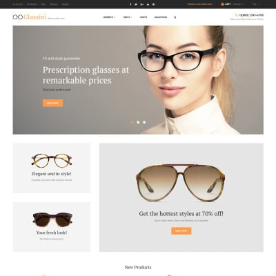 Eye Glasses Responsive Magento Motiv