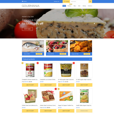 Food Store Responsive Shopify шаблон
