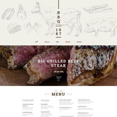 BBQ Restaurant Responsive Шаблон сайту