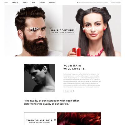 Hair Salon Responsive Joomla šablona