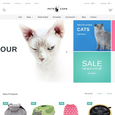 Pet Shop Responsive PrestaShop шаблон