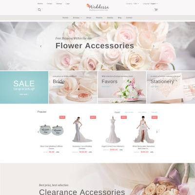 Wedding Shop Responsive PrestaShop шаблон