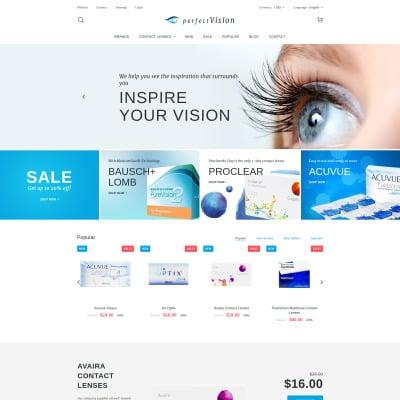 Optometrist's Responsive PrestaShop шаблон
