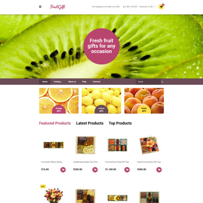 Fruit Responsive VirtueMart模板