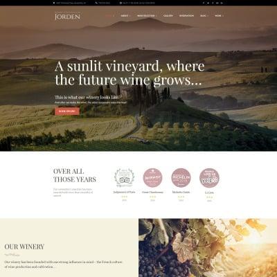 Winery Responsive WordPress Motiv