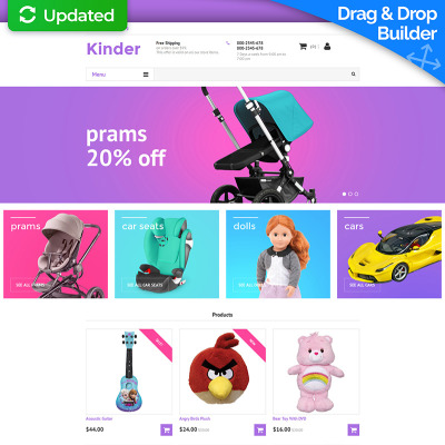 Baby Store Responsive MotoCMS Ecommerce Template