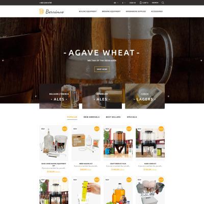 Brewery Responsive PrestaShop шаблон