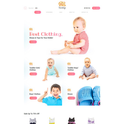 Baby Store Responsive WooCommerce Theme