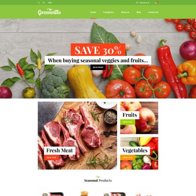 Food Store Responsive WooCommerce шаблон