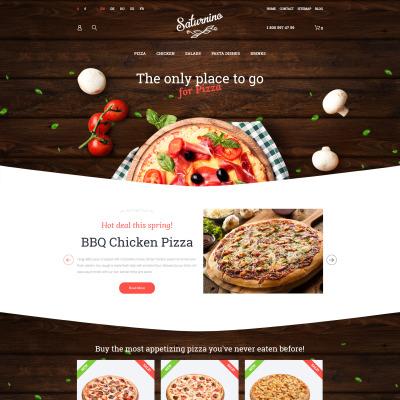 Pizza Responsive PrestaShop шаблон