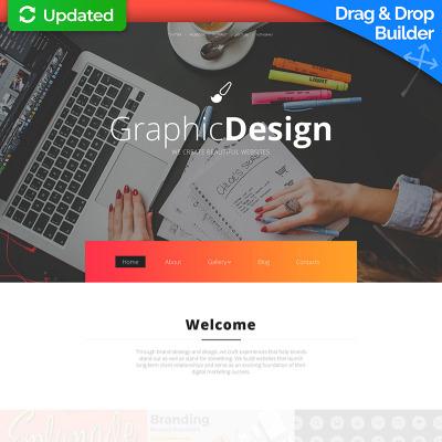 Flexível templates Moto CMS 3 №59062 para Sites de Estúdio de Design