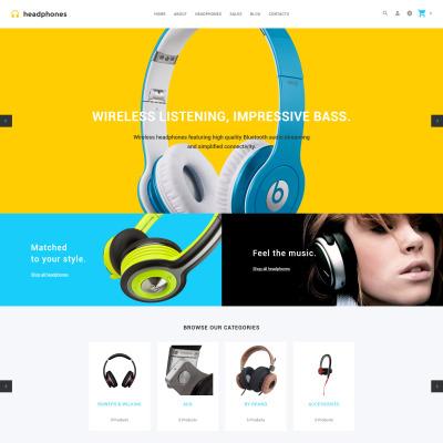Music Store Responsive OpenCart šablona