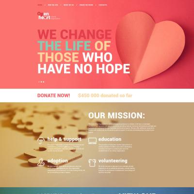 Charity Responsive Шаблон сайту