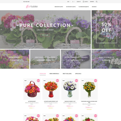 Flower Shop Responsive PrestaShop шаблон